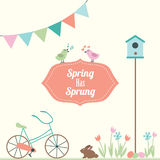 Spring Has Sprung Vector Illustration Stock Photography