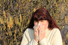 In the spring. Hay fever and allgerien in the spring Stock Photography