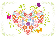 Spring Heart Design Royalty Free Stock Images