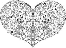 Spring heart mandala Stock Photos