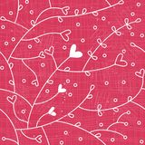 Spring hearts seamless pattern in vector  Royalty Free Stock Images