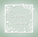 Spring is here background Royalty Free Stock Photos