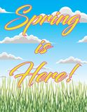 Spring is Here! Royalty Free Stock Photo