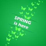 Spring is here. This is illustration spring is here royalty free illustration