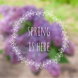 Spring is here. Vector blurred background with Royalty Free Stock Images