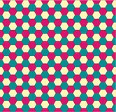 Spring hexagonal seamless pattern Stock Images