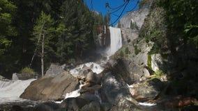Vernal falls in Yosemite national park, usa. Spring high water flow on Vernal falls in Yosemite national park, California stock video footage