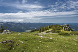 Spring hiking in the bavarian alps Stock Photography