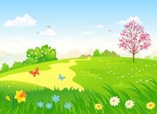 Spring Hill ilustração royalty free