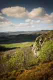 Spring Hillside. Landscape view from hill in springtime Royalty Free Stock Photo