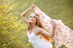 Spring hippie bride Stock Images