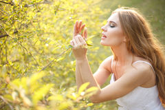 Spring hippie bride Royalty Free Stock Images