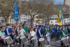 Spring holiday parade in Zurich Royalty Free Stock Photos