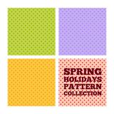 Spring holiday pattern collection Royalty Free Stock Photos