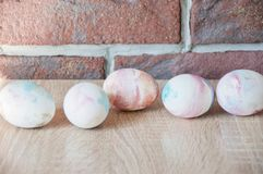 Spring holiday preparation. Happy easter. natural dye. Easter egg. Marble shell. Painted eggs. DIY and handmade. Egg hunt. stock photos