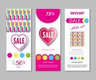 Spring Holiday Sale modern banners set Stock Photo