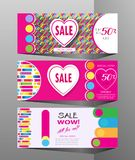 Spring Holiday Sale modern banners set Royalty Free Stock Photography