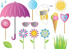 Spring holidays. Icon set Stock Images