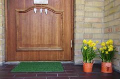 Spring home entry Royalty Free Stock Photo