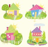 Spring Home icons Stock Images