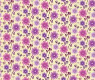 Spring Hope Pink and Purple Florals stock photo