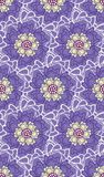 Spring Hope Purple, Yellow and Cream Florals stock illustration