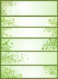 Spring horizontal banners Royalty Free Stock Images