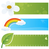 Spring Horizontal Banners Royalty Free Stock Photography