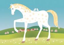 Spring horse Royalty Free Stock Photo