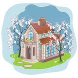 Spring house Royalty Free Stock Images