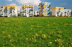 Spring on the housing estate Stock Photo