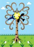 Spring I came, birds flied. Stock Image