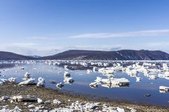 Spring ice in the sea Stock Photography