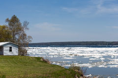 Spring Ice Thaw with Copy Space Stock Photos