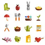 Spring Icon Flat Stock Photo