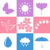 Spring. Icon Set Stock Images