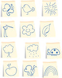 Spring icon set. Vector illustration of spring icon set Stock Photography