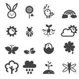 Spring icon set Royalty Free Stock Photography
