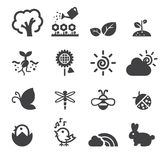 Spring icon set Royalty Free Stock Images