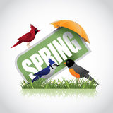 Spring icon stock illustration  Stock Image