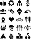 Spring icons. Some icons related with spring Stock Photo