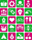 Spring icons. Some icons related with spring Royalty Free Stock Photos