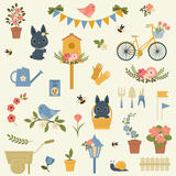Spring icons collection Stock Photos