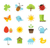 Spring Icons Stock Photography