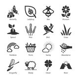 Spring icons. Flat Design Illustration: Spring icons Royalty Free Stock Photography
