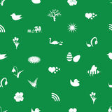 Spring icons pattern eps10. Green spring icons pattern eps10 Stock Illustration