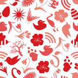 Spring icons seamless pattern eps10 Stock Image