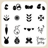 Spring icons set for design royalty free illustration