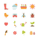Spring icons Stock Images