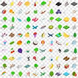 100 spring icons set, isometric 3d style. 100 spring icons set in isometric 3d style for any design vector illustration stock illustration